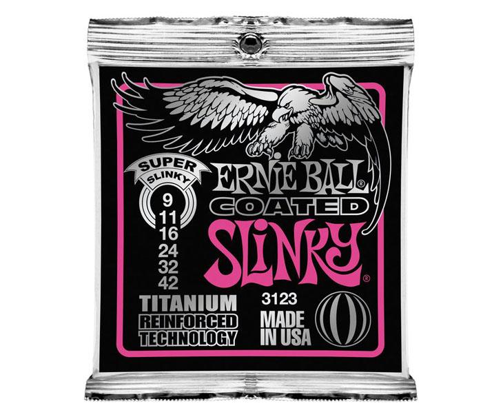 STR.-EL.KYT. 009,ERNIE BALL,Coated,slinky