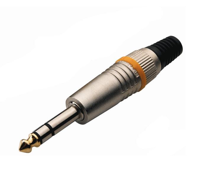 KONEKTOR,JACK-6,3,kabelový stereo,on,kov