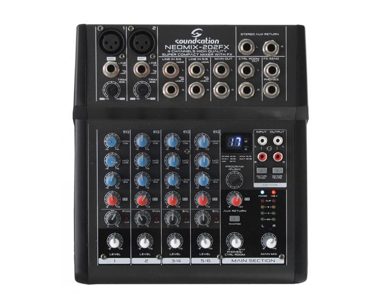 MIXPULT-SOUNDSTATION 2x mic.,4x stereo,efekty