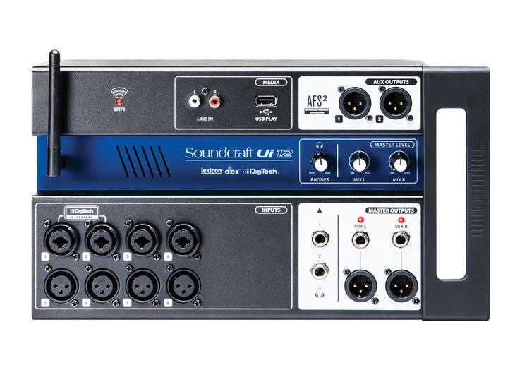 MIXPULT-SOUNDCRAFT Ui12, 12x mic.,4x aux,wifi