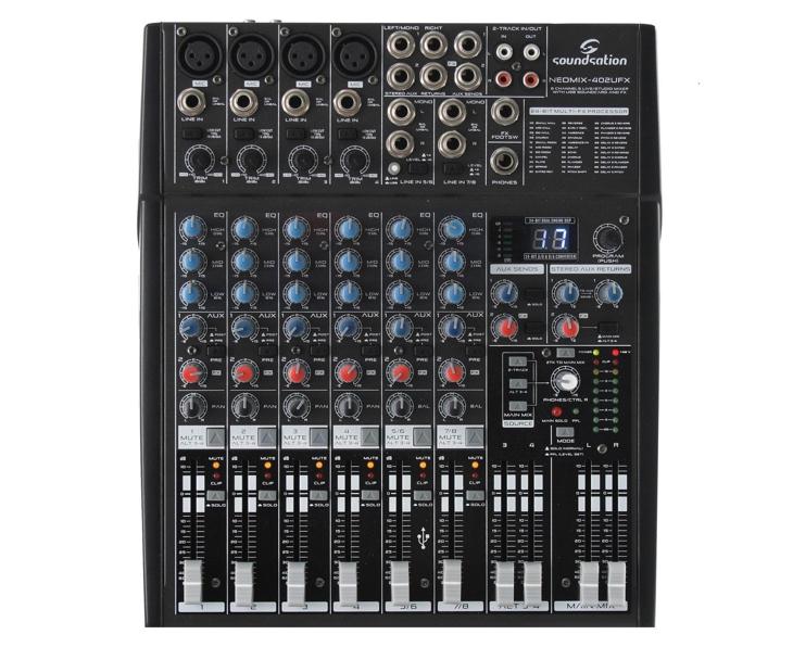 MIXPULT-SOUNDSTATION 4x mic.,2x stereo,FX