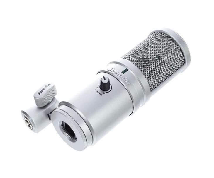 MIKROFON-SUPERLUX kondenzátorový,zpěvový,USB