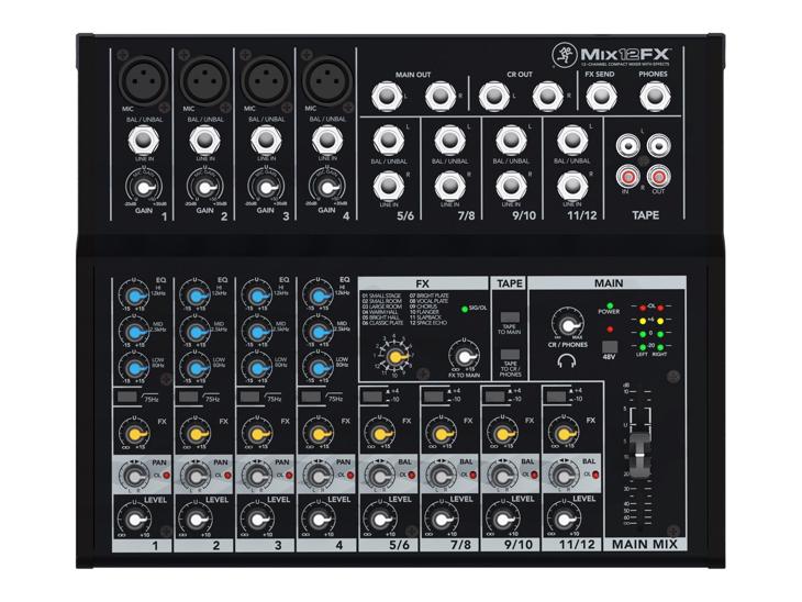 MIXPULT-MACKIE MIX12FX,2x mic.,4x st.,FX