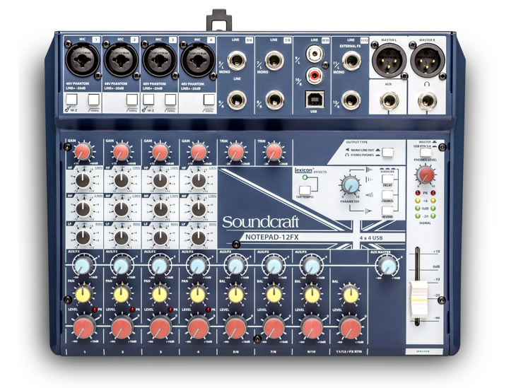 MIXPULT-SOUNDCRAFT 4x mic.,4x stereo,usb