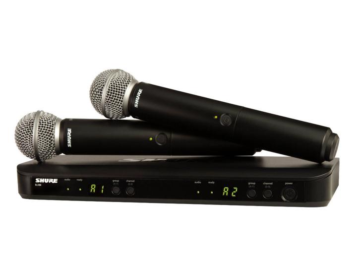 MIKROFON BD.-SHURE BLX88+2x PG58 ruční mic.