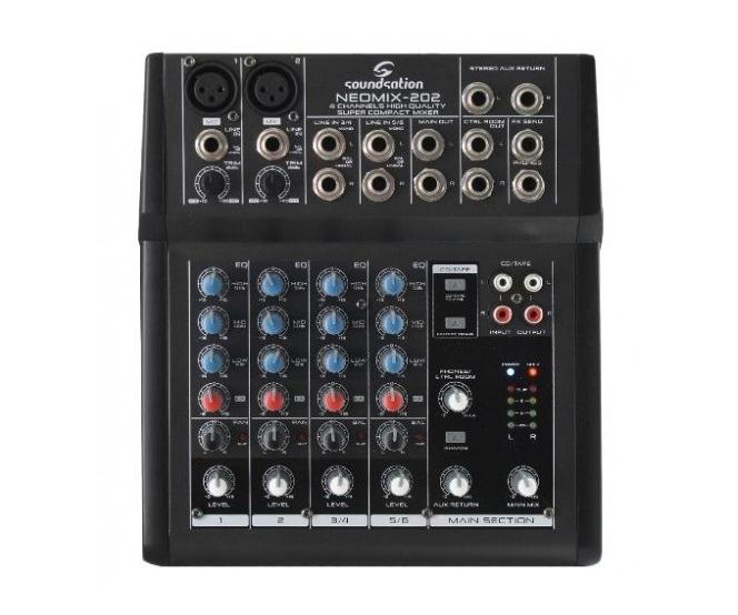 MIXPULT-SOUNDSTATION 2x mic.,2x stereo